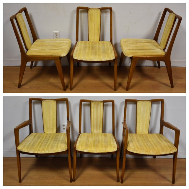 Mt. Airy Sculpted Walnut Dining Chairs - Set of 6 - Image 2 of 11