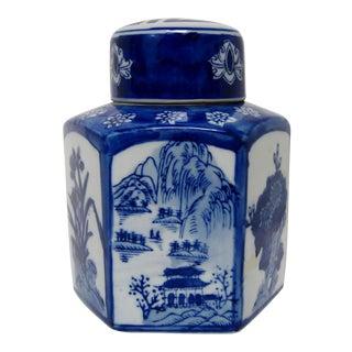 Hand Painted Chinese Porcelain Tea Jar