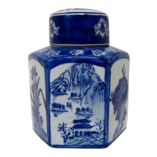 Hand Painted Chinese Porcelain Tea Jar