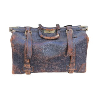 Old Leather Overnight Bag