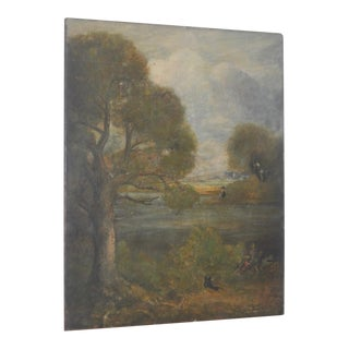 "19th Century ""The Grainfield"" English Landscape Painting After John Constable"