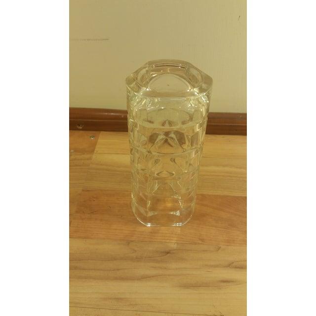 Mid-Century Crystal Glass Vase - Image 4 of 4