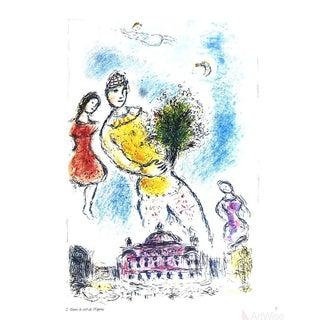 """Marc Chagall """"Dans Le Ciel De l'Opera"""" 1981 Poster"""