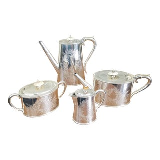 Etched Silverplate Coffee Service