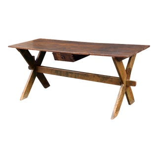 Late 19th-Early 20th Century Trestle Table
