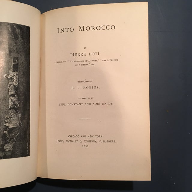 "1892 Leather ""Into Morocco"" 1st Edition Book - Image 5 of 10"