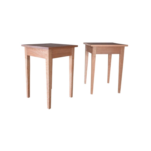 Image of Thos Moser Designed Cherry Side Tables - A Pair