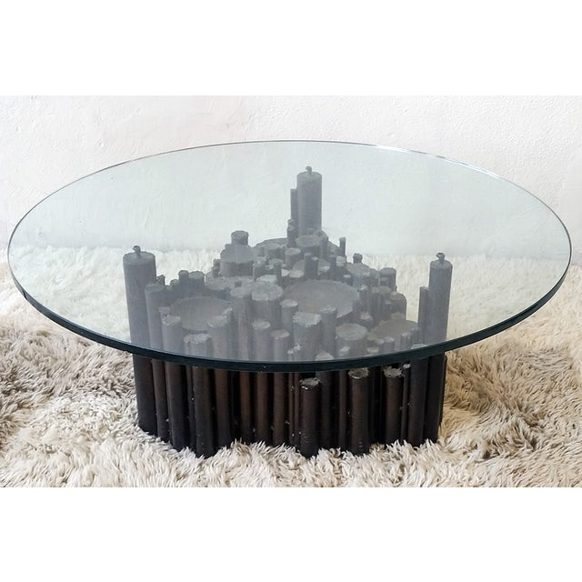 Image of Paul Evans Style Brutalist 1970s Coffee Table