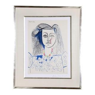 'Portrait De Femme' Pablo Picasso Lithograph