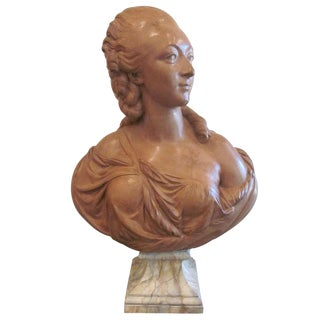 A French Terracotta Bust of Madame du Barry