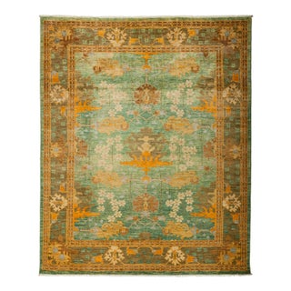"""New Arts & Crafts Hand-Knotted Rug - 8' X 9' 7"""""""