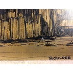 Image of Metal Etching of Boulder Creek Architecture