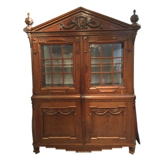 Neoclassical Continental Wood Armoire