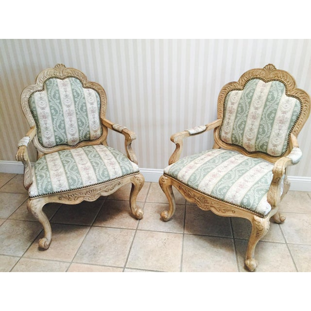 Traditional French Accent Chairs - A Pair - Image 3 of 5
