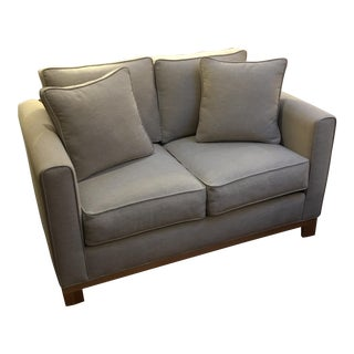 Contemporary Upholstered Sofa with Pillows