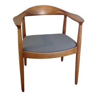 "Imo Hans Wegner ""The Chair"" Style Mid-Century Danish Side Chair"