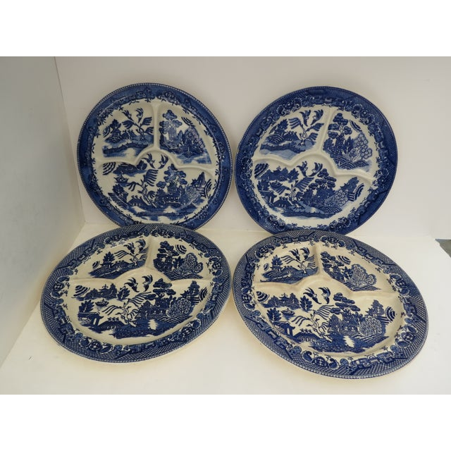 Blue Willow Grill Plates - Set of 4 - Image 2 of 8