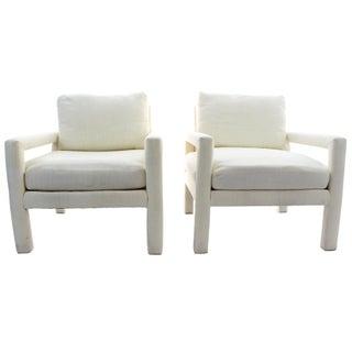 Milo Baughman Parsons Style Club Chairs - A Pair