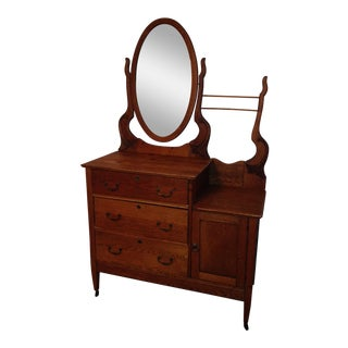 Oak Washstand Dresser