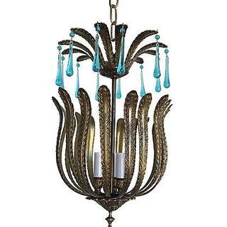 Mid-Century Brass Acanthus Lantern