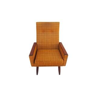 Danish Teakwood Orange Lounge Chair