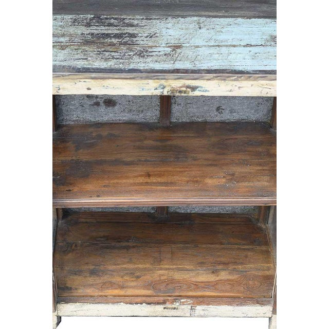 Vintage Rustic Yellow Cabinet - Image 5 of 5