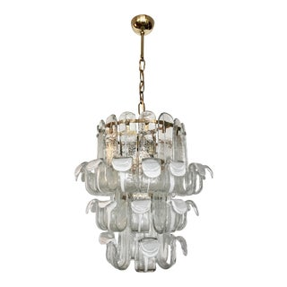 Vintage Italian Murano Three Tier Chandelier