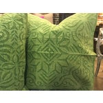 Image of Hand Applique Green Pillow