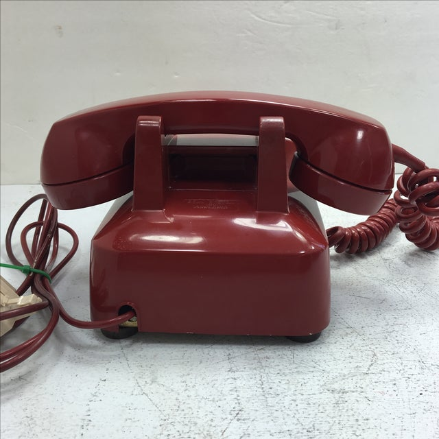 Western Electric Red Rotary Dial Telephone - Image 4 of 11