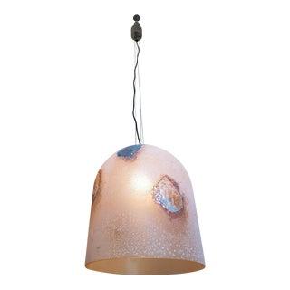 Barbini stamped Murano glass, mid century modern pendant light