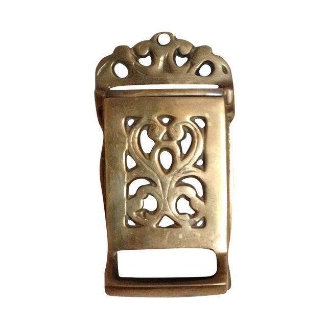 Vintage Brass Match Holder - Image 1 of 4