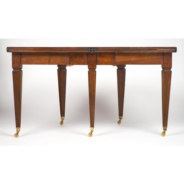 French Directoire Folding Demilune Table - Image 9 of 11