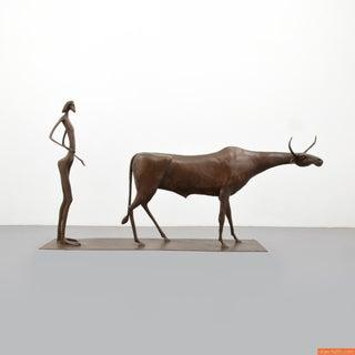 Monumental Itzik Asher Bronze Sculpture