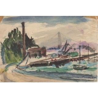San Francisco Bay Watercolor by Grace Freeman