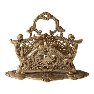 Art Nouveau Brass Cherubs Letter Holder