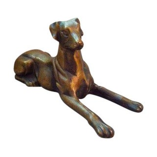 1900's Brass Reclining Dog