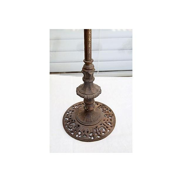 Mission-Style Iron Table Lamp - Image 4 of 5