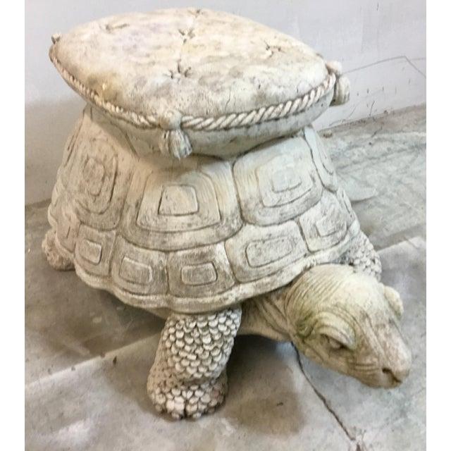 1960s Concrete Turtle Garden Seat - Image 4 of 6