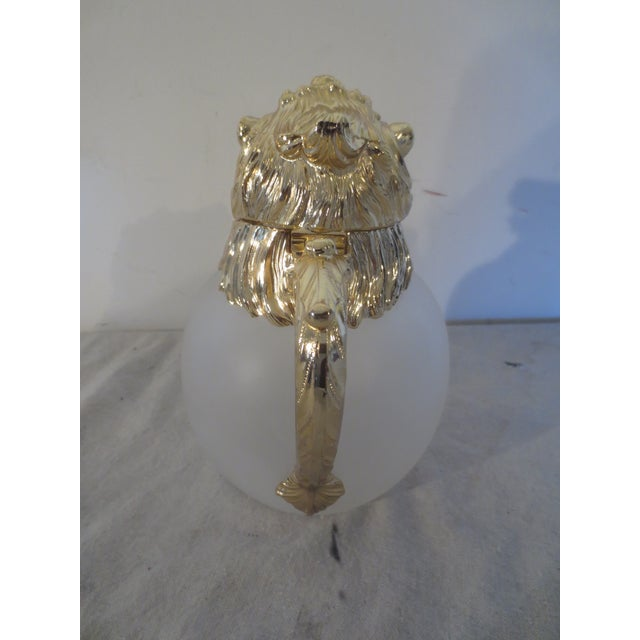 Vintage Carol Stupell Pitcher with Brass Lion - Image 5 of 7