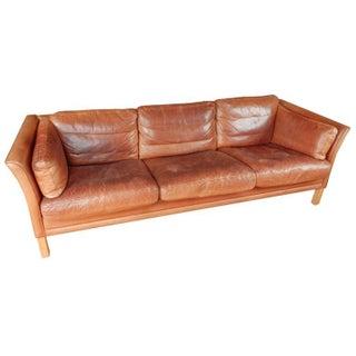 Danish Mid-Century Leather Sofa