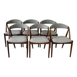 Kai Kristansen Walnut Dining Chairs - Set of 6