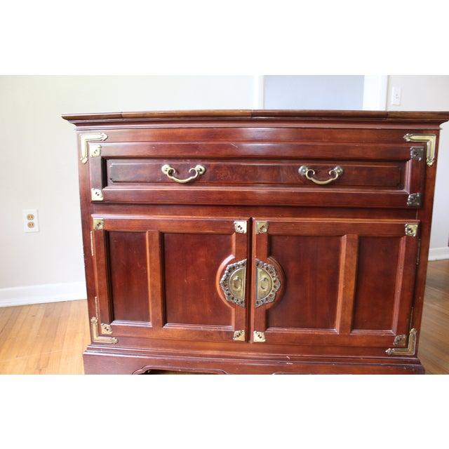 Buffet cherry wood cabinet chairish
