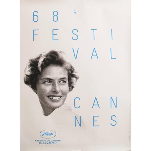 Original Cannes Film Festival Poster 2015, Ingrid Bergman - Image 2 of 4