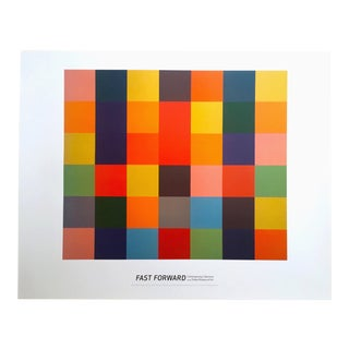 "Ellsworth Kelly ""Sanary"" Modernist Lithograph Print Exhibition Poster"