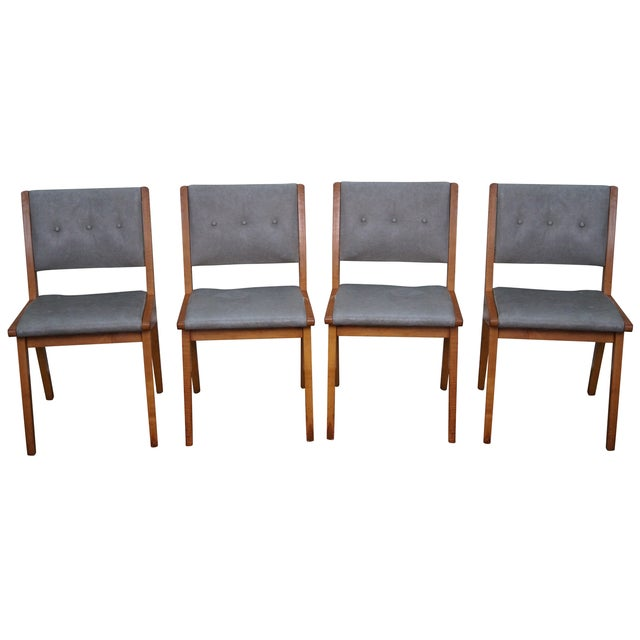 Jens risom mid century dining chairs set of 4 chairish - Jens risom dining chairs ...