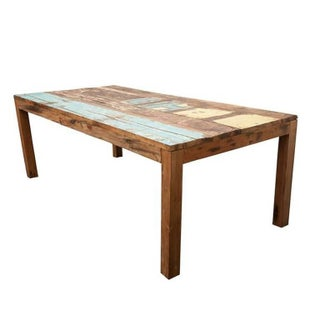 Reclaimed Indonesian Fishing Boat Dining Table