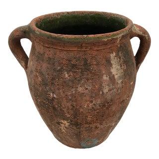 Antique Early 1900s Turkish Terra Cotta Olive Oil Jar