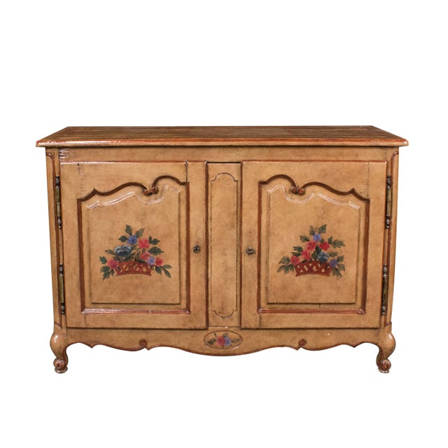 French Provencial Hand Painted Buffet - Image 1 of 5