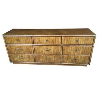 Drexel Campaign 9 Drawer Dresser