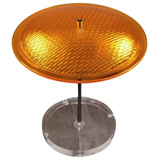 Glass Traffic Signal Lens Table Lamp